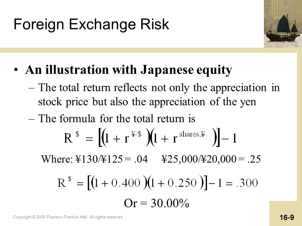 Foreign Exchange Risk An illustration with Japanese equity Or = 30.00%