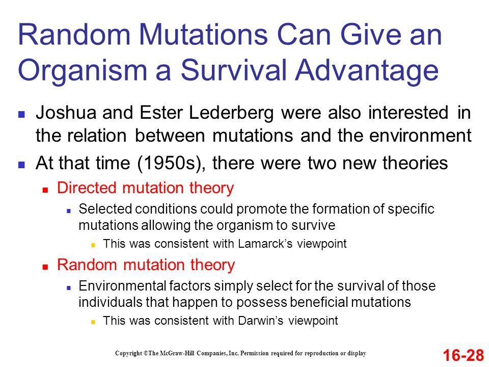 Random Mutations Can Give an Organism a Survival Advantage