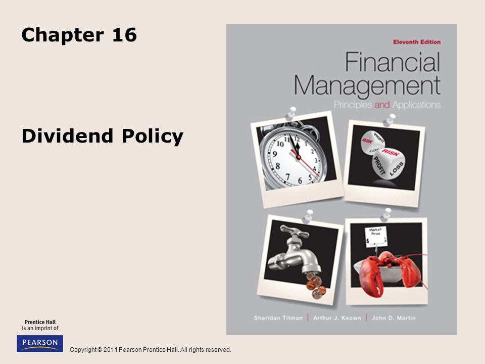 Chapter 16 Dividend Policy