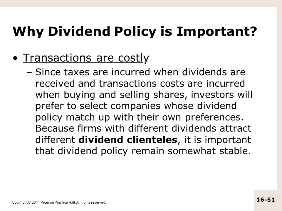 Why Dividend Policy is Important