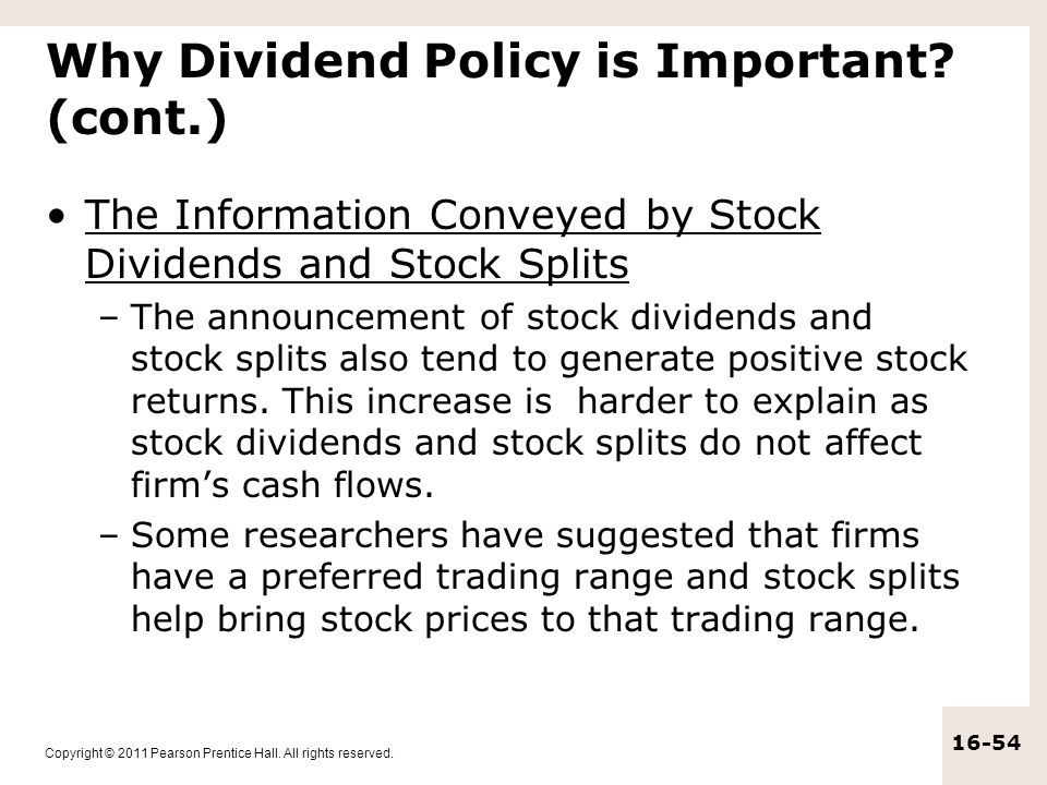 Why Dividend Policy is Important (cont.)