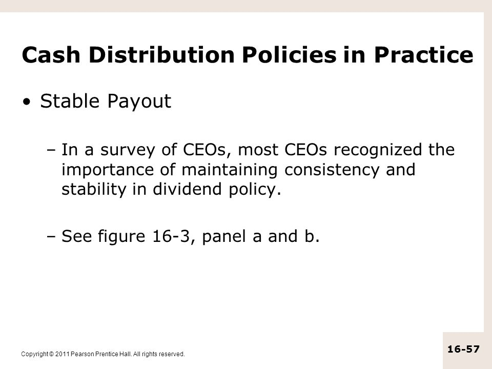 Cash Distribution Policies in Practice