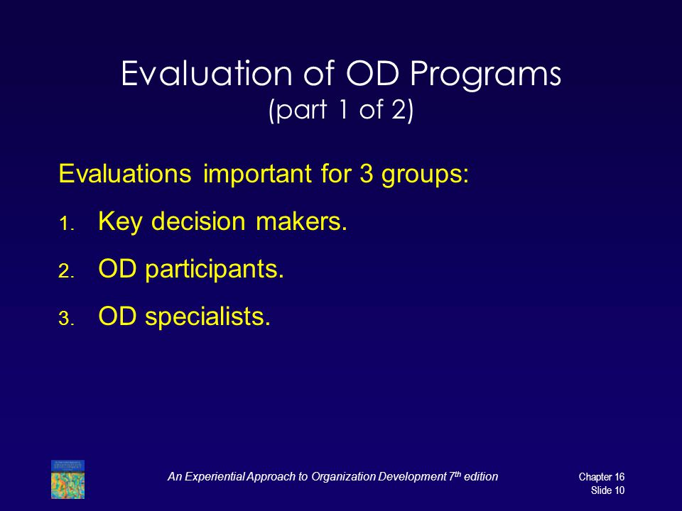 Evaluation of OD Programs (part 1 of 2)