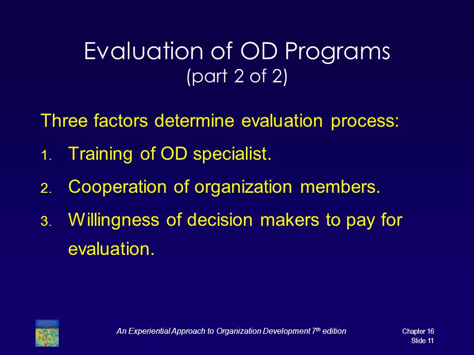 Evaluation of OD Programs (part 2 of 2)