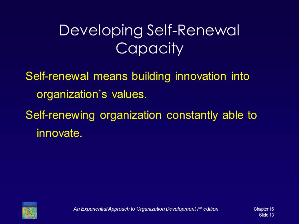 Developing Self-Renewal Capacity