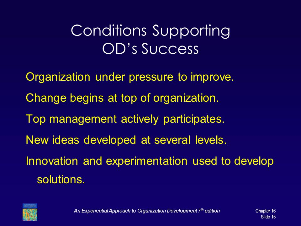 Conditions Supporting OD's Success