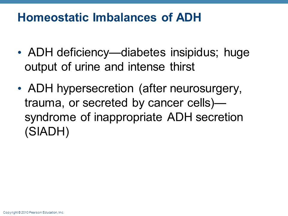 Homeostatic Imbalances of ADH