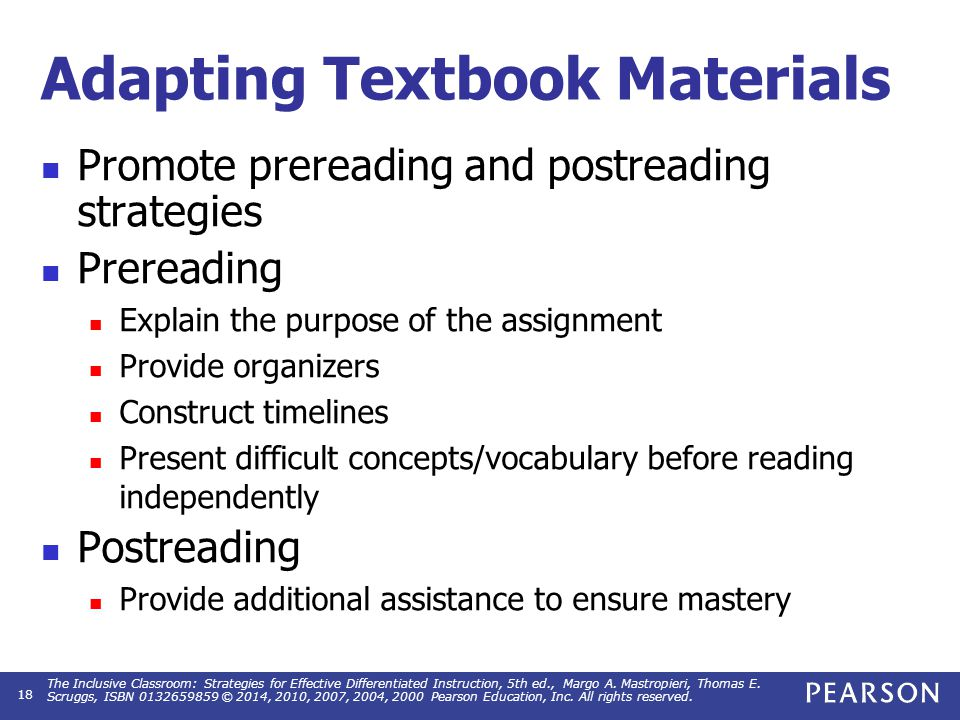 Adaptations for Students with Visual Impairments or Severe Reading Problems
