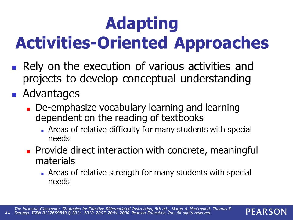 Activities-Oriented Approaches