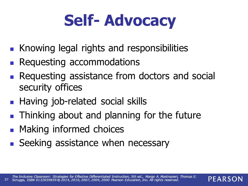 Conceptual Framework for Self-Advocacy