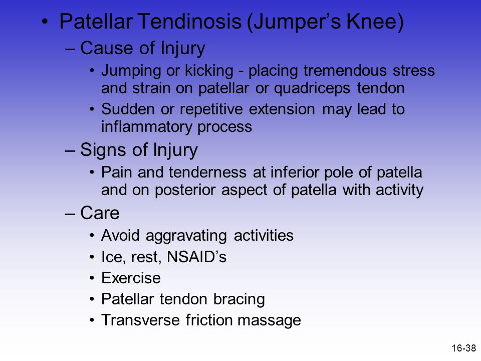 Patellar Tendinosis (Jumper's Knee)