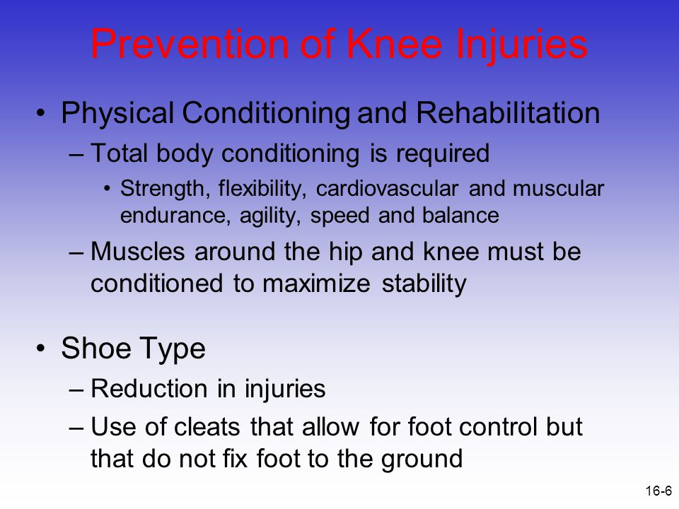 Prevention of Knee Injuries