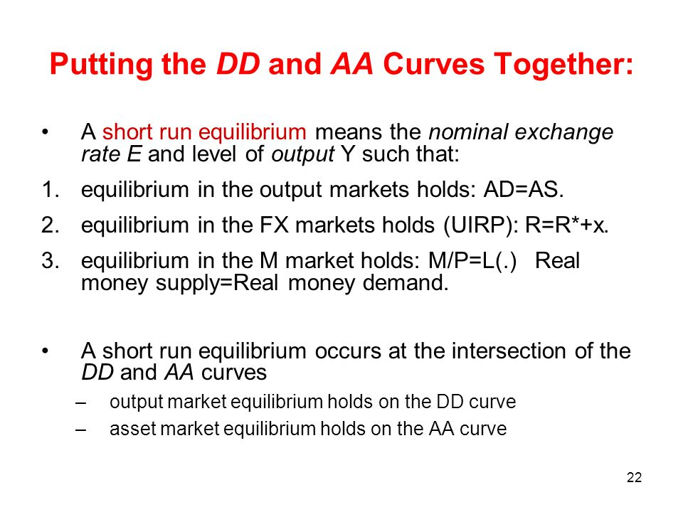 Putting the DD and AA Curves Together:
