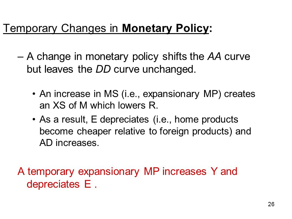 Temporary Changes in Monetary Policy: