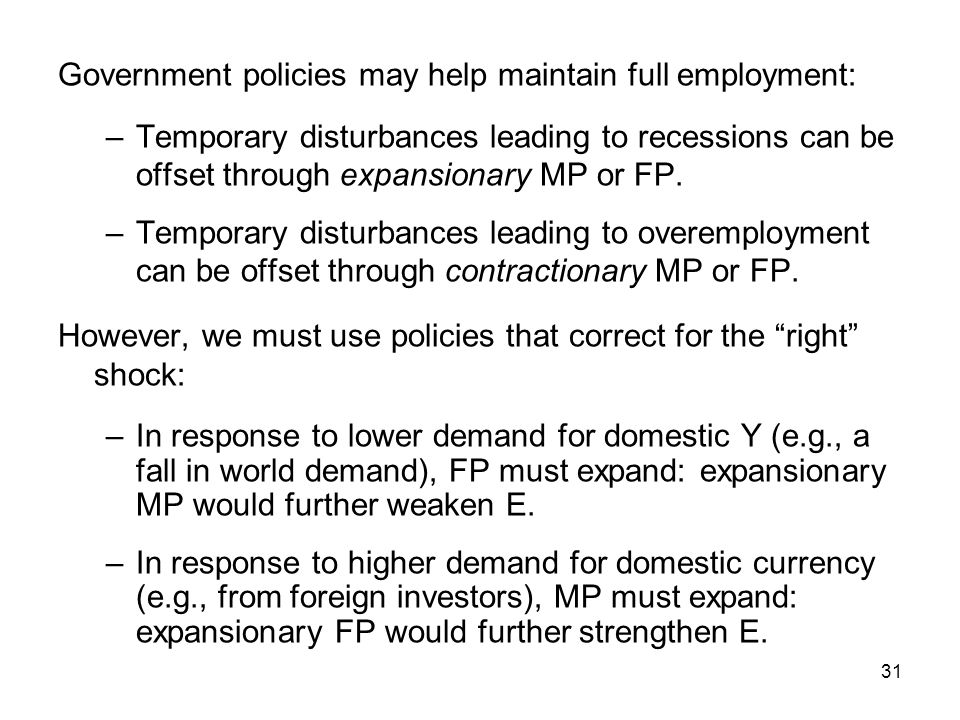 Government policies may help maintain full employment: