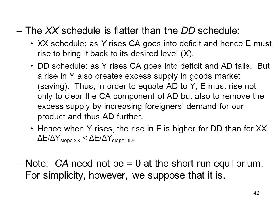 The XX schedule is flatter than the DD schedule: