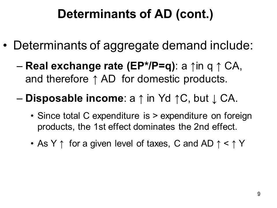 Determinants of AD (cont.)