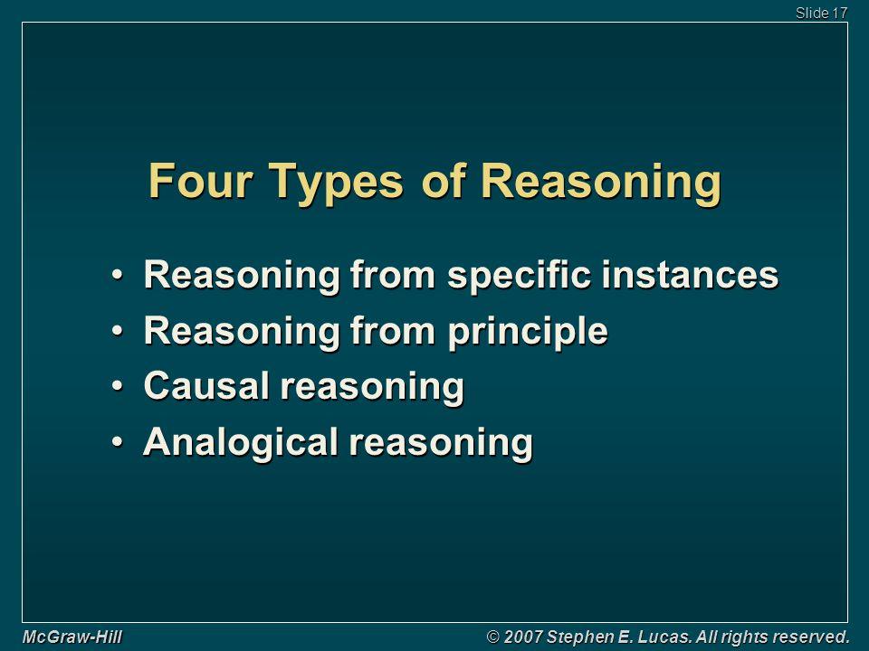 Four Types of Reasoning