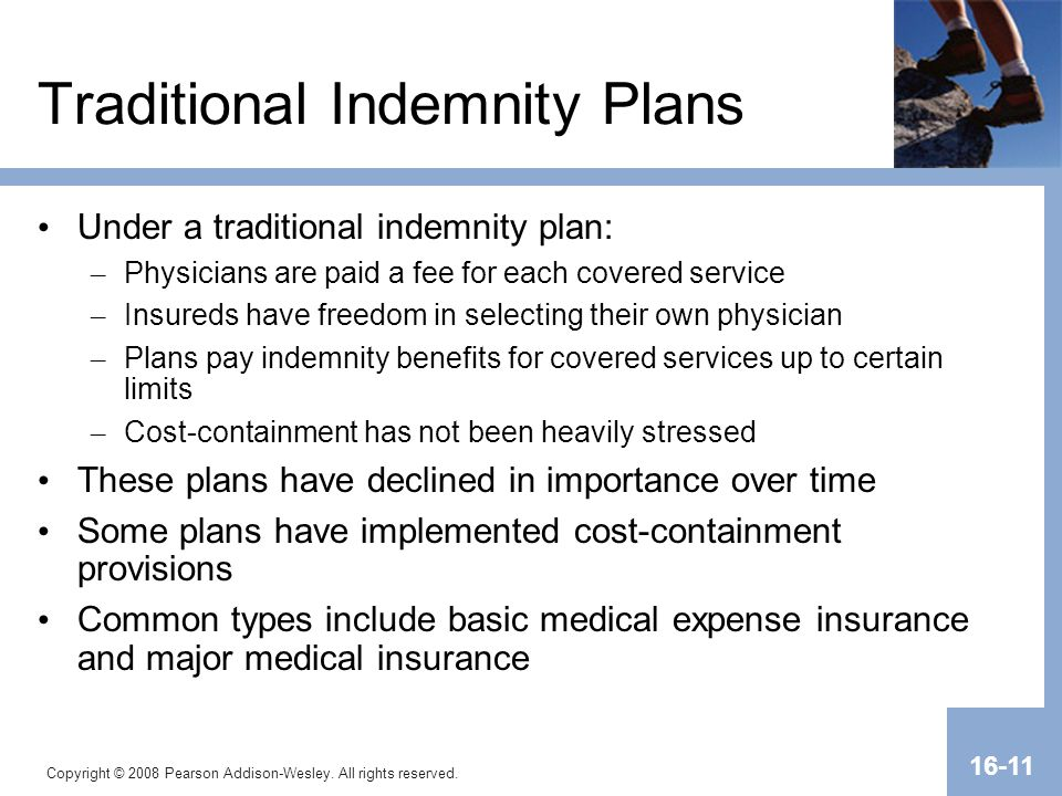 Traditional Indemnity Plans