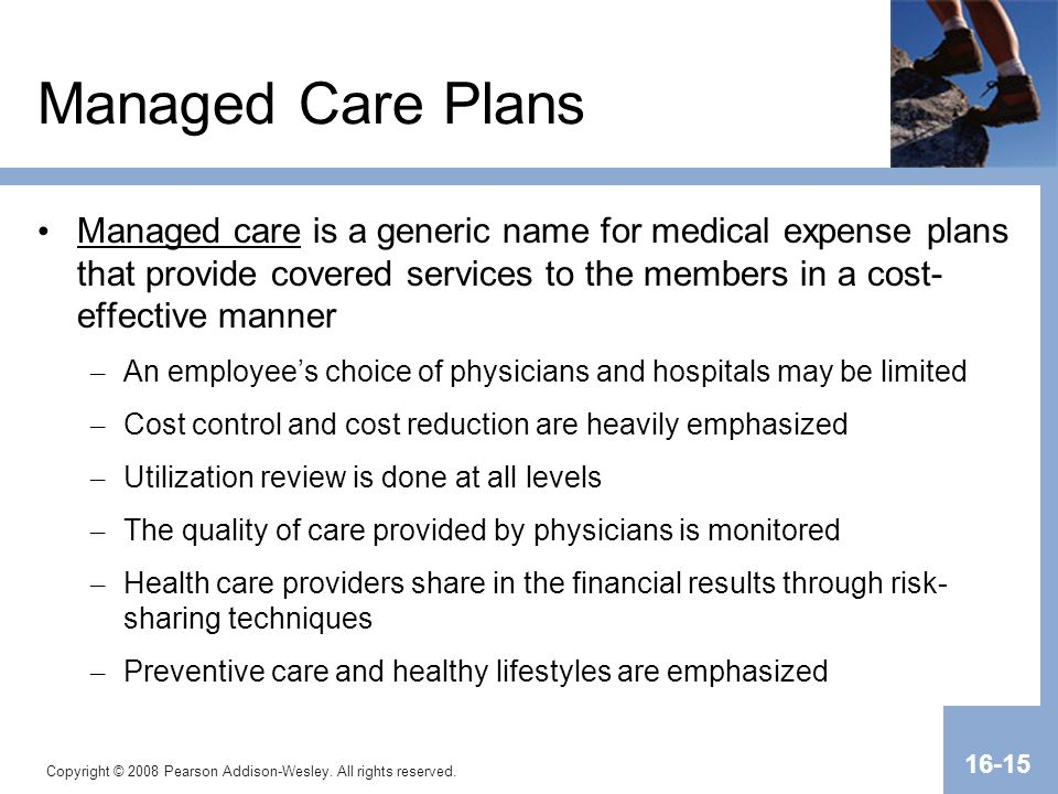 Transparency Master 1.2 Managed Care Plans.