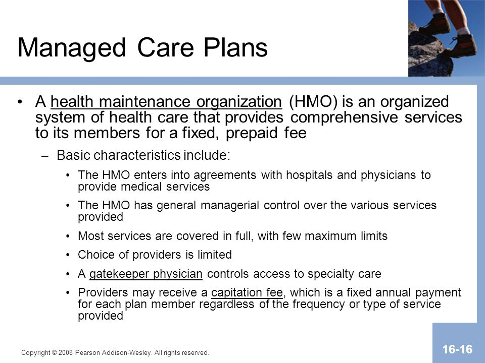 Managed Care Plans