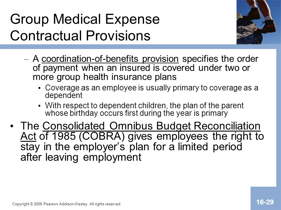 Group Medical Expense Contractual Provisions