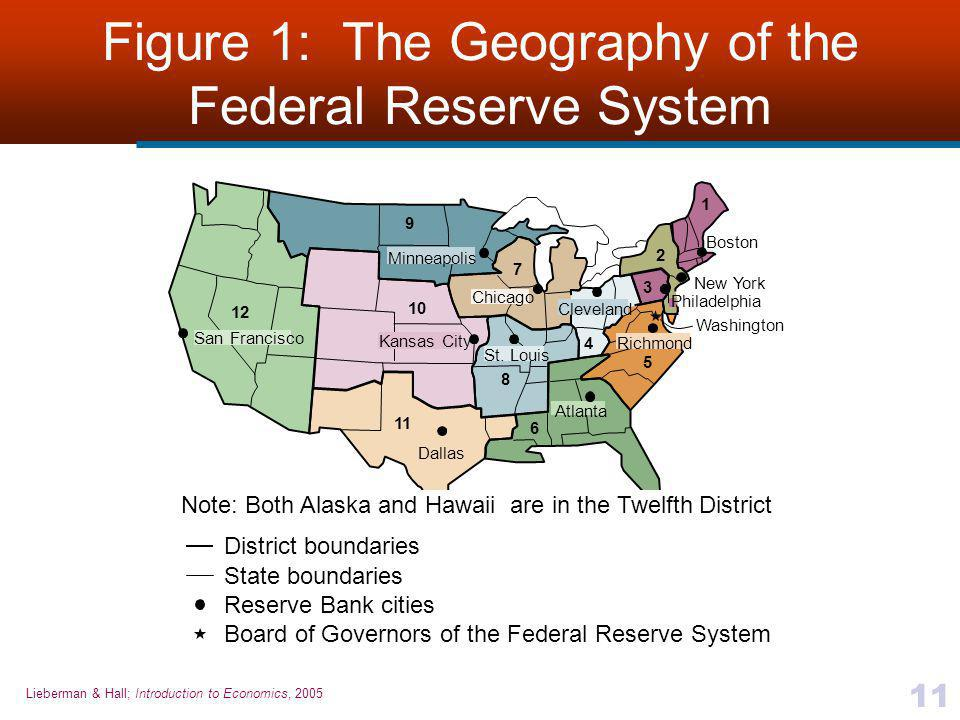 Figure 1: The Geography of the Federal Reserve System
