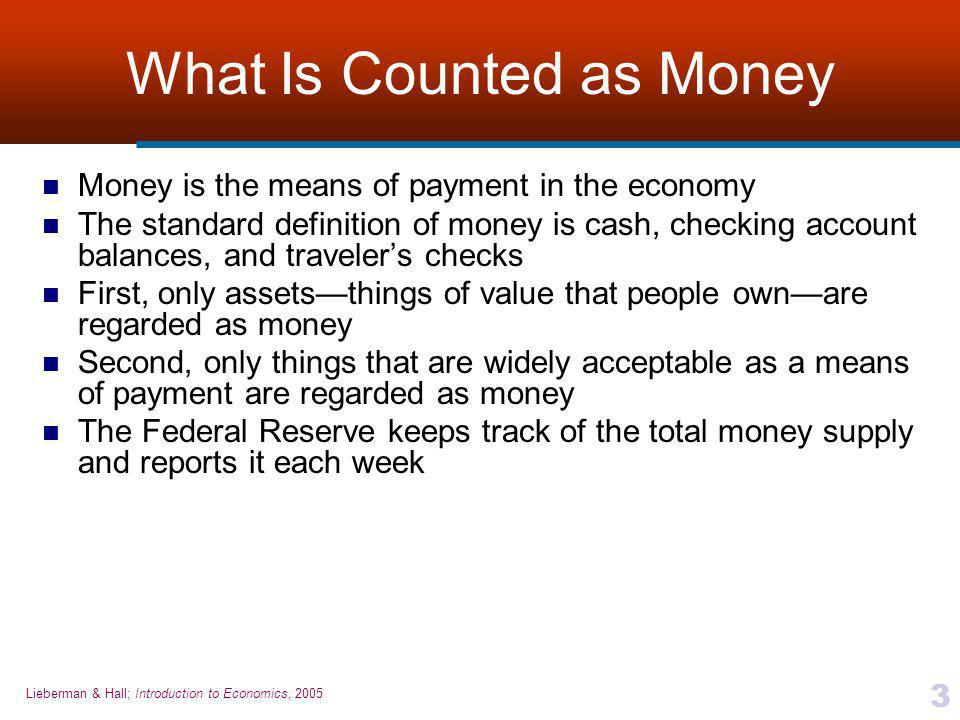 What Is Counted as Money