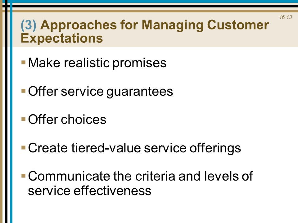 (3) Approaches for Managing Customer Expectations