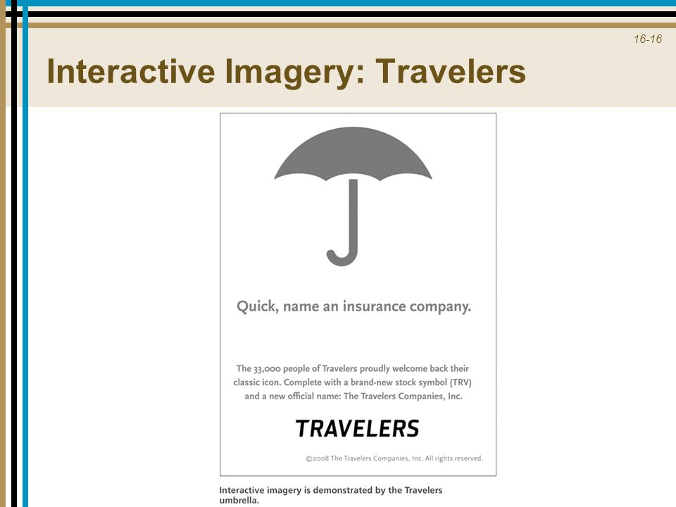 Interactive Imagery: Travelers