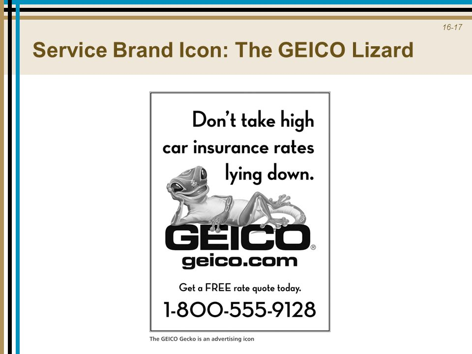 Service Brand Icon: The GEICO Lizard