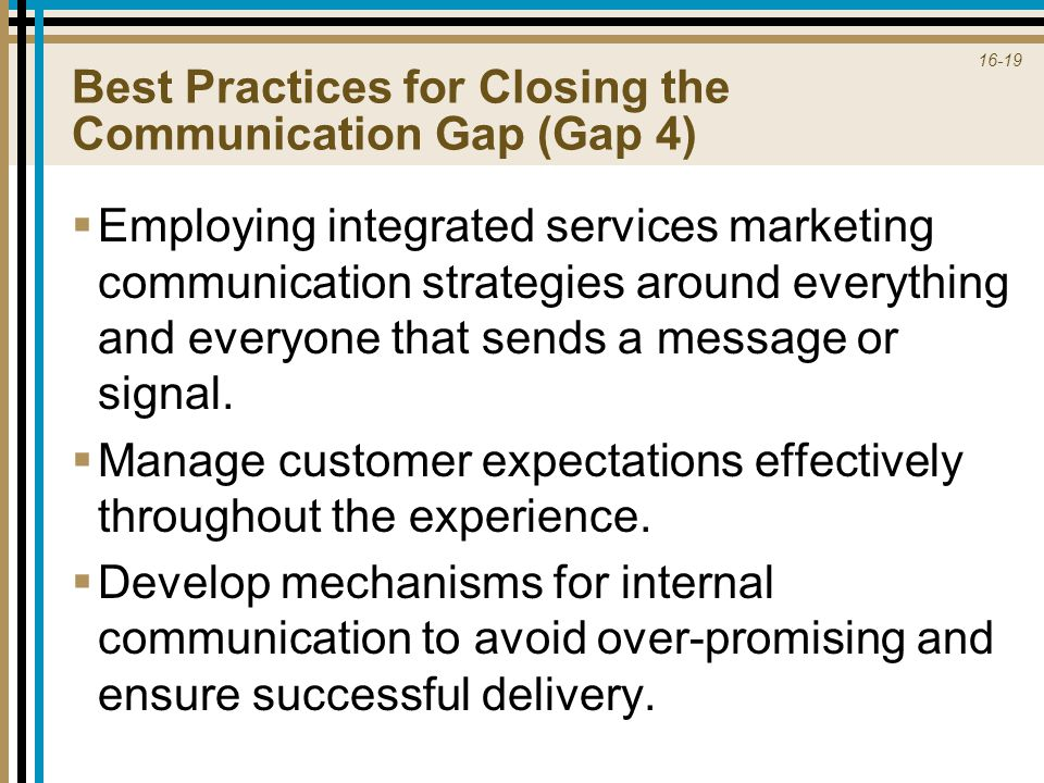 Best Practices for Closing the Communication Gap (Gap 4)