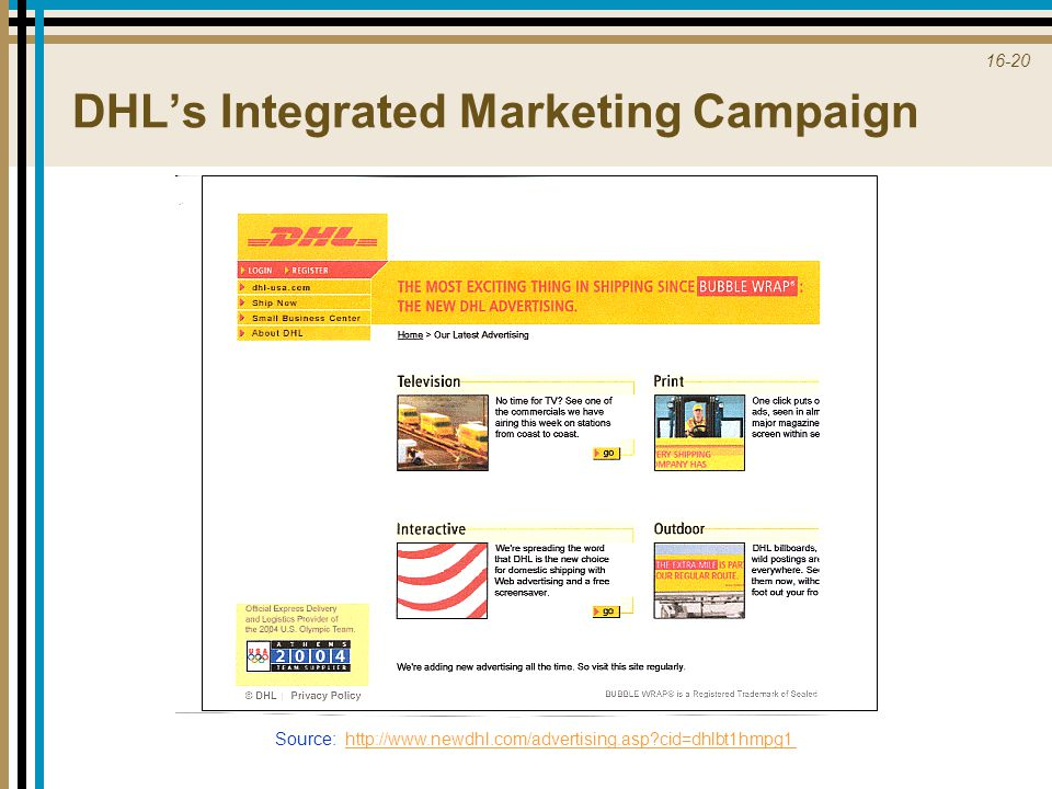 DHL's Integrated Marketing Campaign