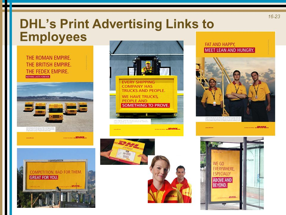 DHL's Print Advertising Links to Employees