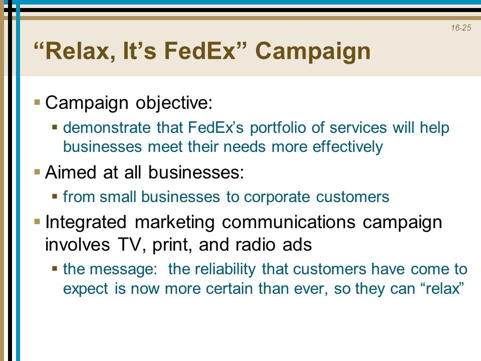 Relax, It's FedEx Campaign