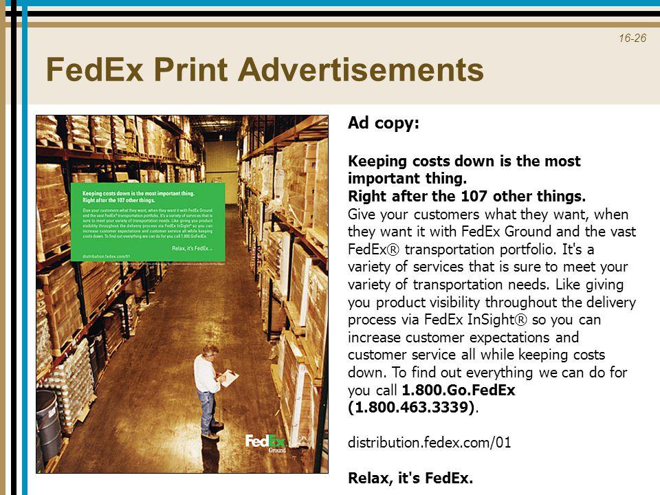 FedEx Print Advertisements