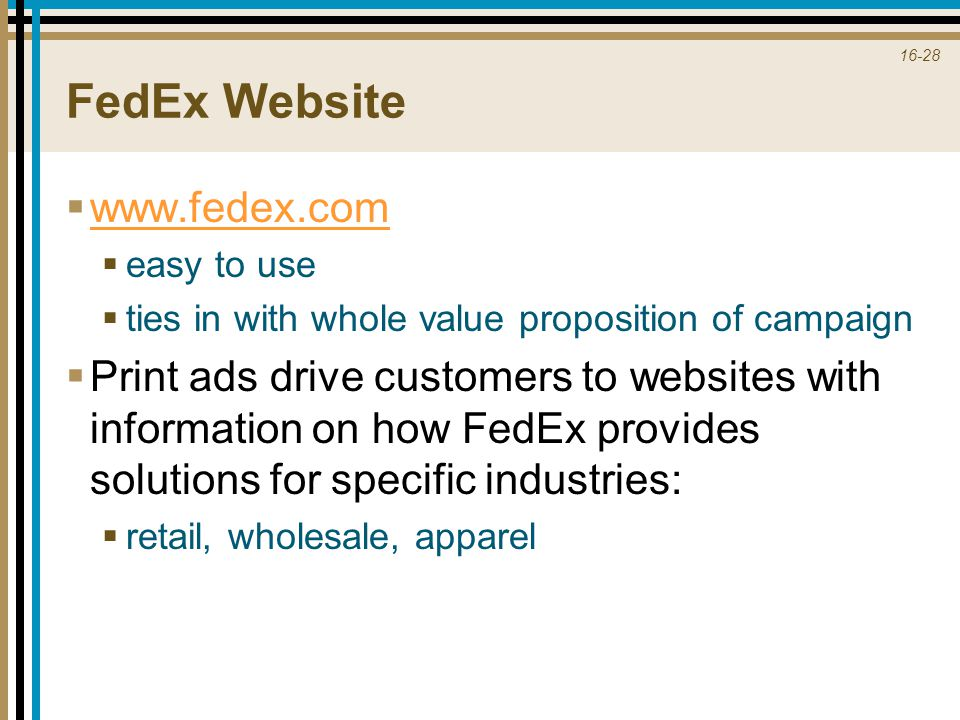 FedEx Website www.fedex.com