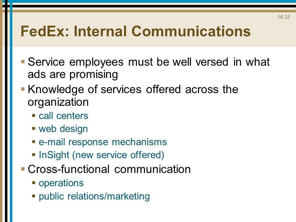 FedEx: Internal Communications