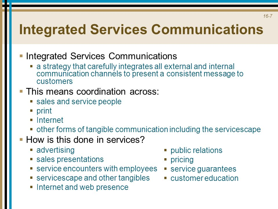 Integrated Services Communications