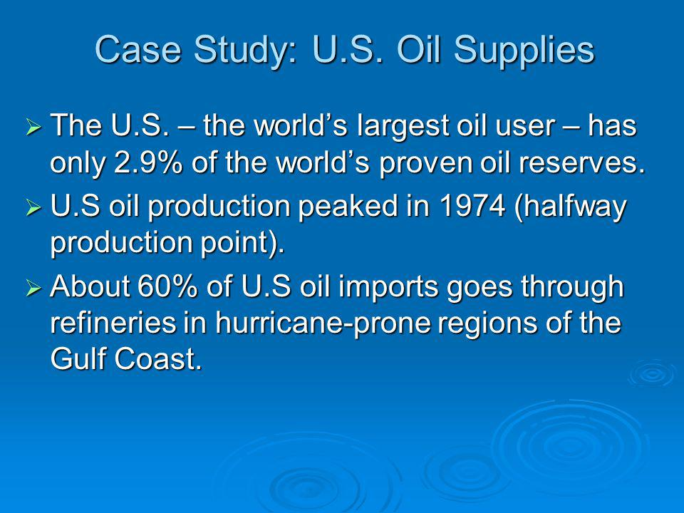 Case Study: U.S. Oil Supplies