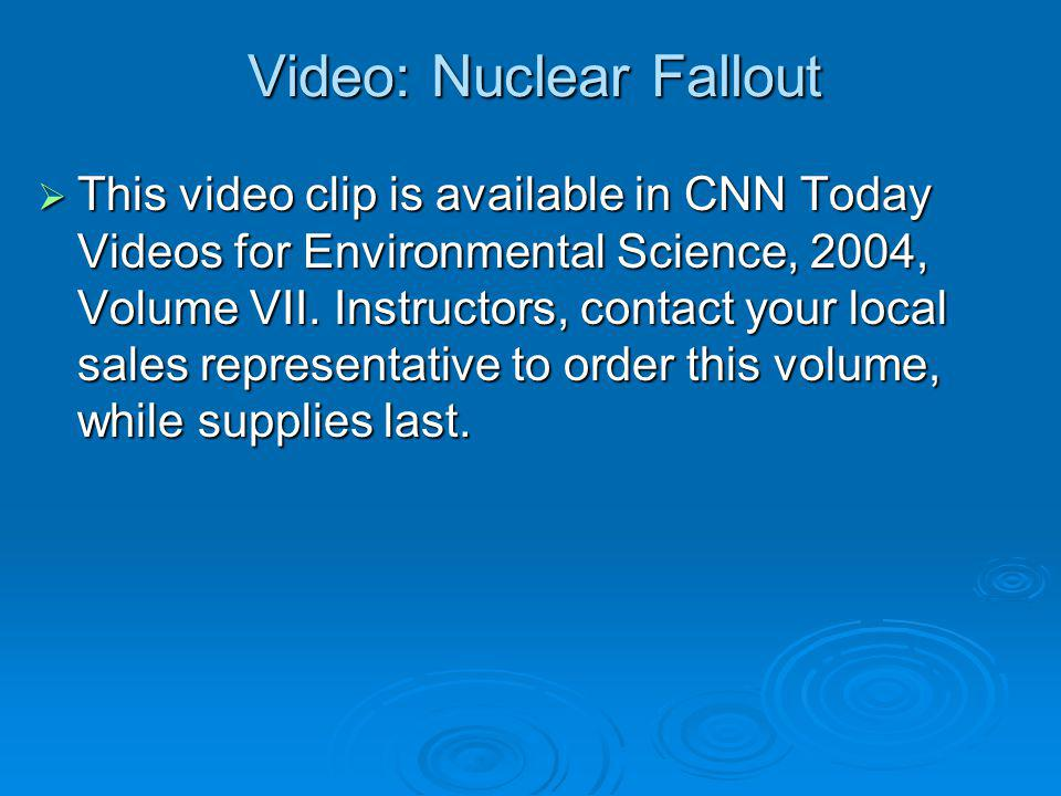 Video: Nuclear Fallout