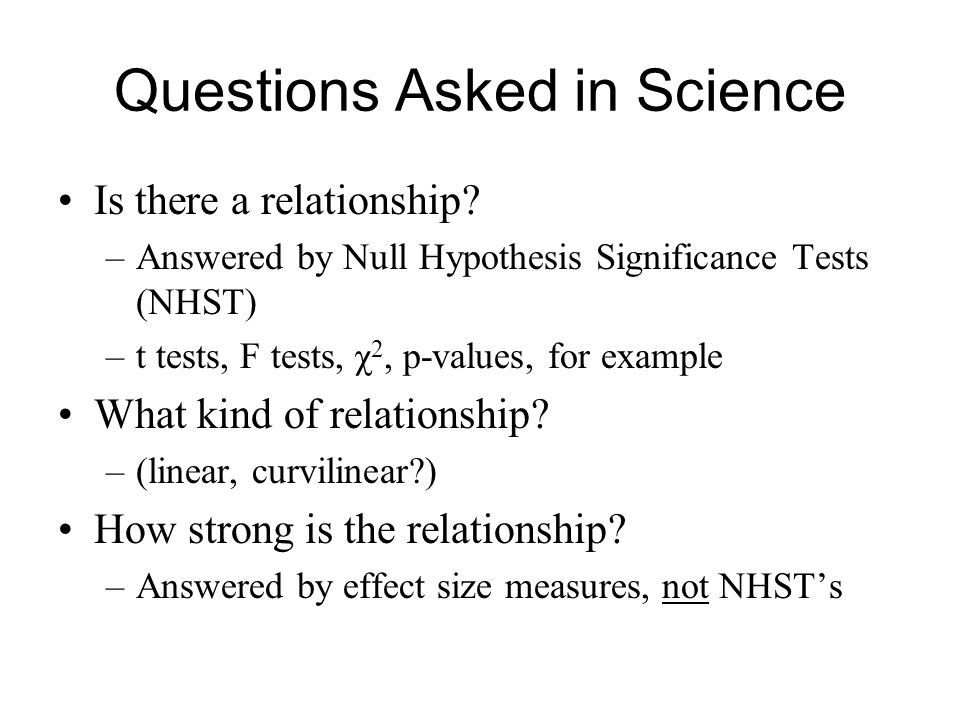 Questions Asked in Science