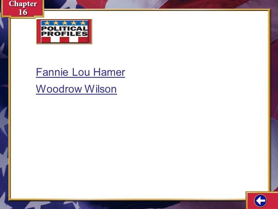 Fannie Lou Hamer Woodrow Wilson Political Profiles 16-3a