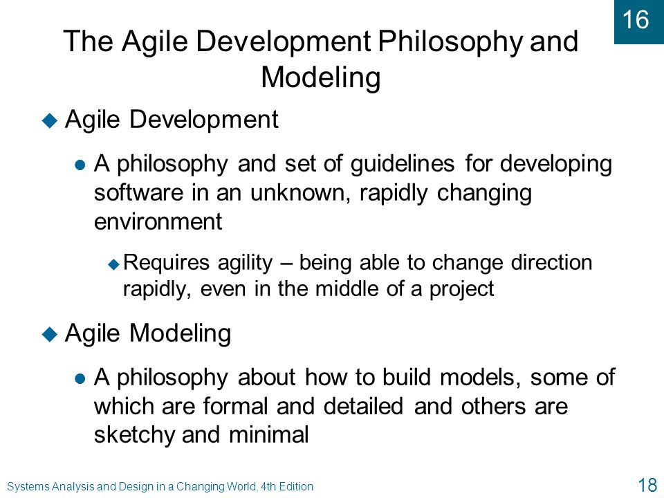 The Agile Development Philosophy and Modeling