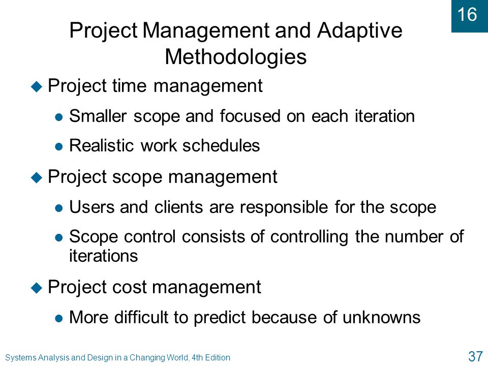 Project Management and Adaptive Methodologies