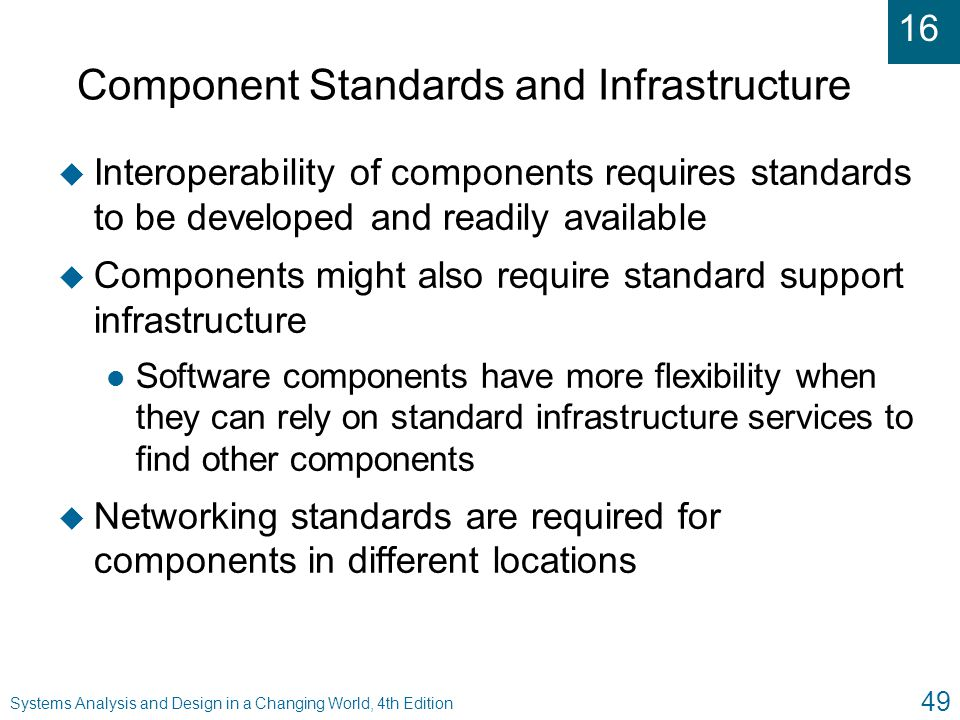 Component Standards and Infrastructure