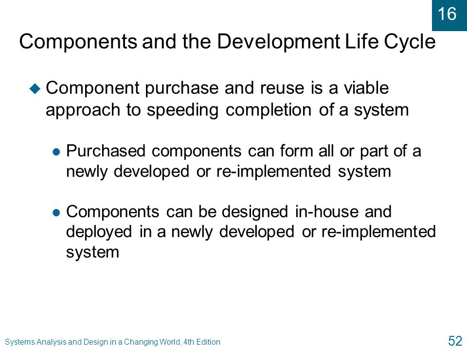 Components and the Development Life Cycle