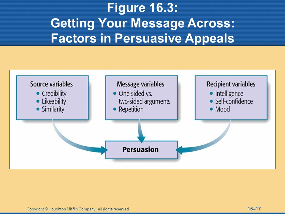 Figure 16.3: Getting Your Message Across: Factors in Persuasive Appeals