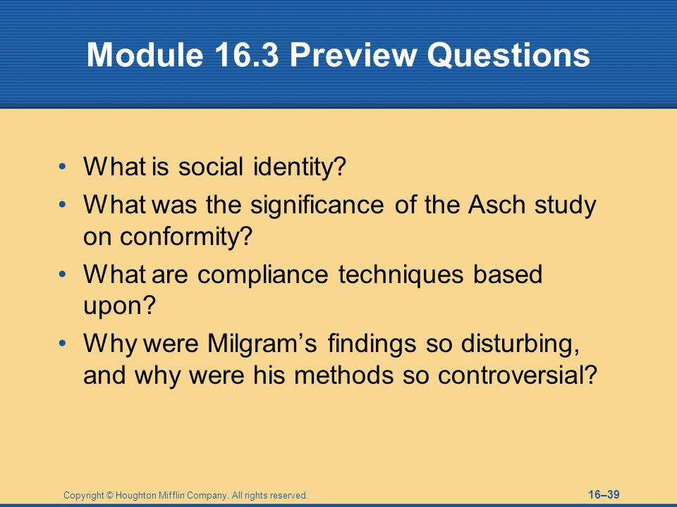 Module 16.3 Preview Questions