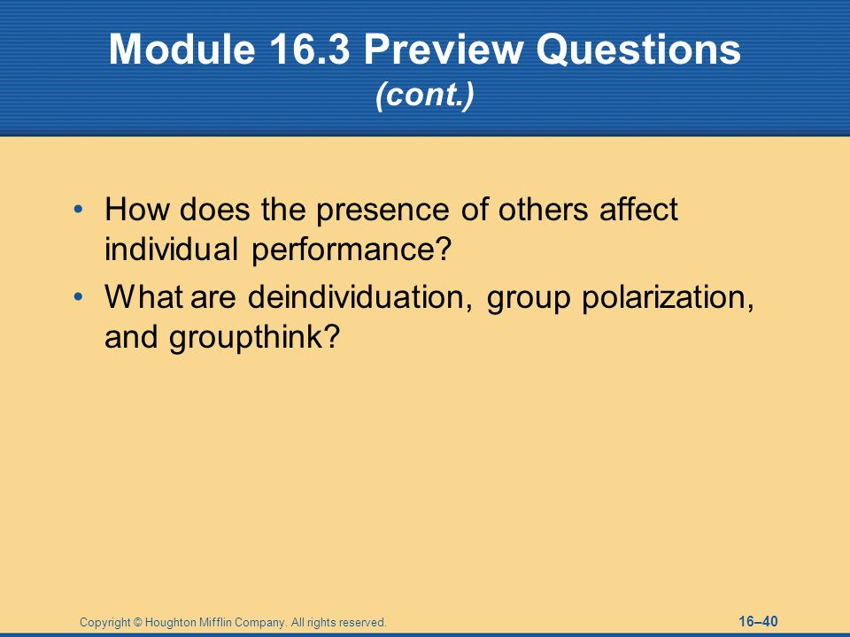 Module 16.3 Preview Questions (cont.)